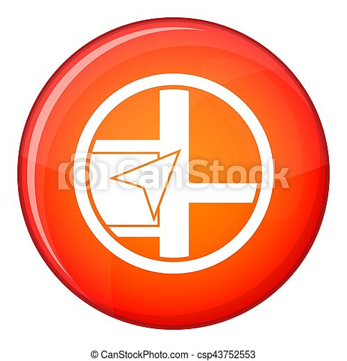 Map navigation icon, flat style - csp43752553