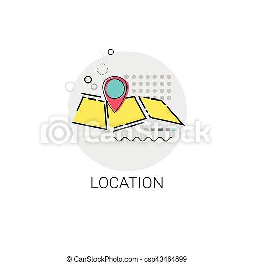 Map Navigation Location Position Icon - csp43464899