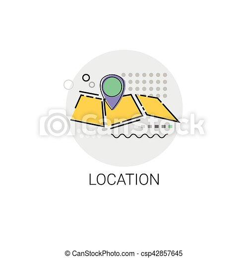 Map Navigation Location Position Icon - csp42857645