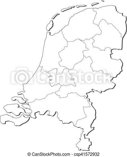 Vectors of Map Netherlands Map of Netherlands contous as a