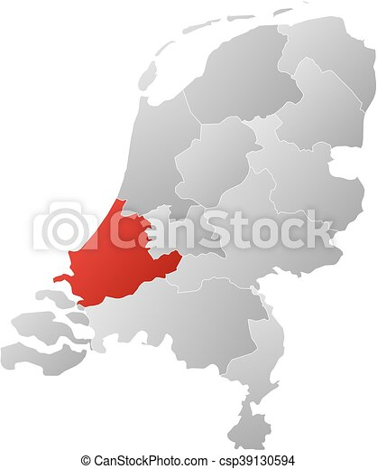 Map netherlands south holland Map of netherlands with eps
