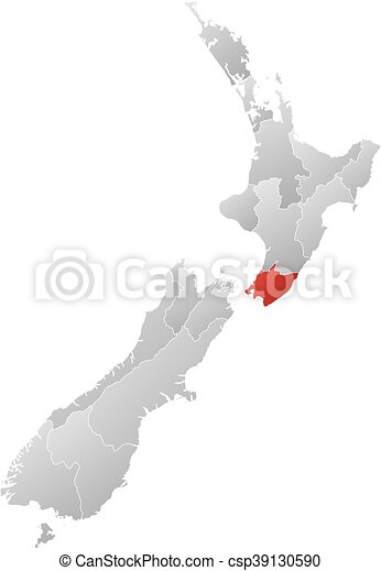 New Zealand Wellington Map.Map New Zealand Wellington
