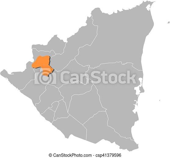 Map nicaragua esteli Map of nicaragua with the eps vectors