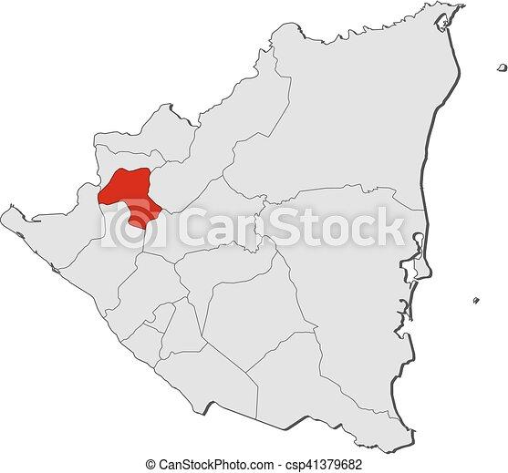 Map nicaragua esteli Map of nicaragua with the vector