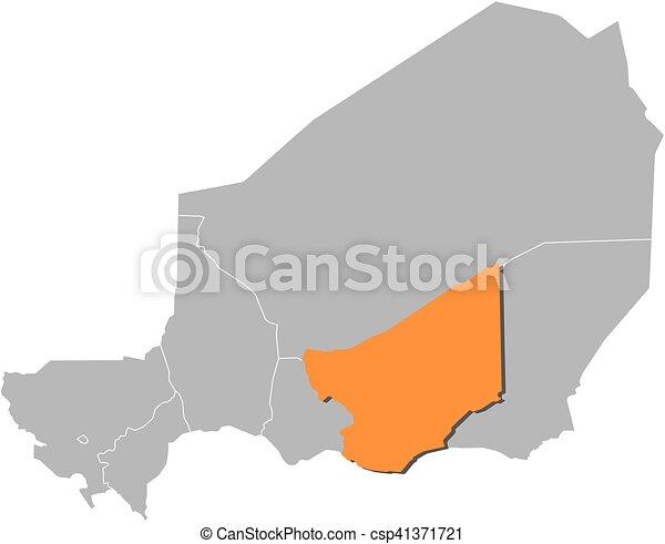 Map niger zinder Map of niger with the provinces zinder
