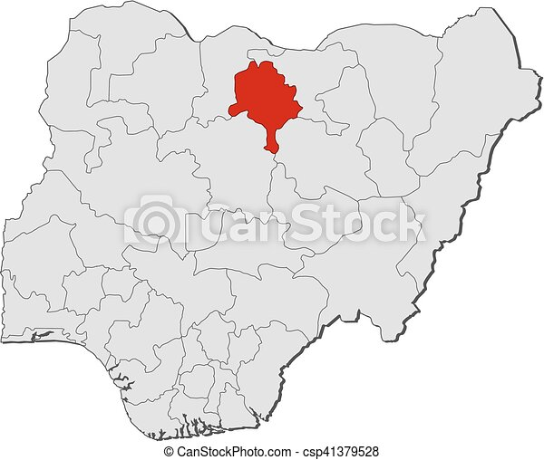 Map nigeria kano Map of nigeria with the provinces kano