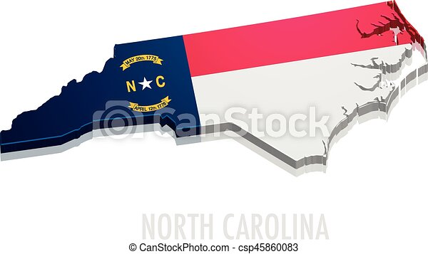 Map North Carolina - csp45860083