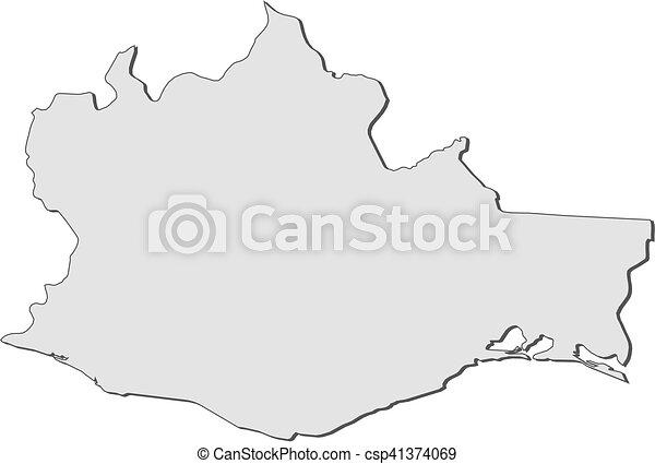 map oaxaca mexico csp41374069