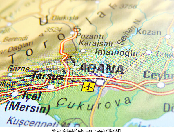 Adana Turkey Map Map of adana, turkey.