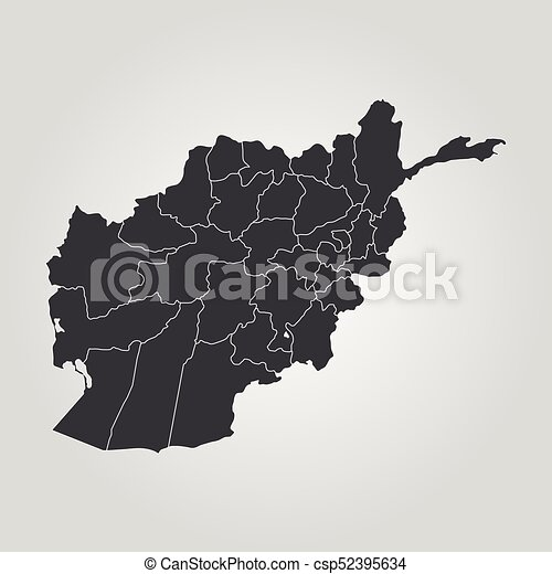 Map of Afghanistan - csp52395634