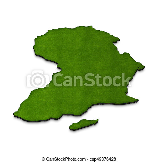 Map Of Africa 3d.Map Of Africa 3d Isometric Illustration Illustration Green Ground