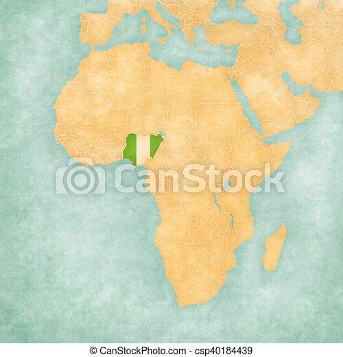 Map Of Africa Nigeria.Map Of Africa Nigeria