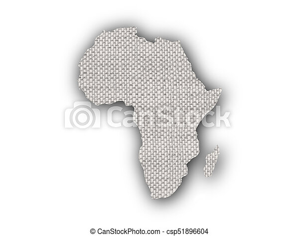 Map of Africa on old linen - csp51896604