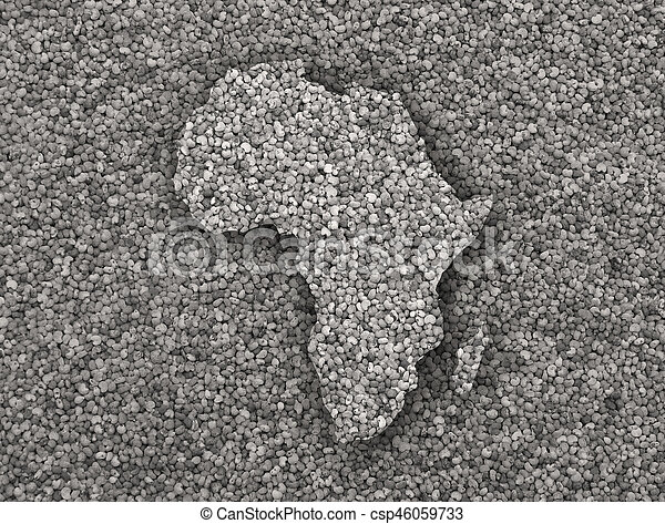 Map of Africa on poppy seeds - csp46059733