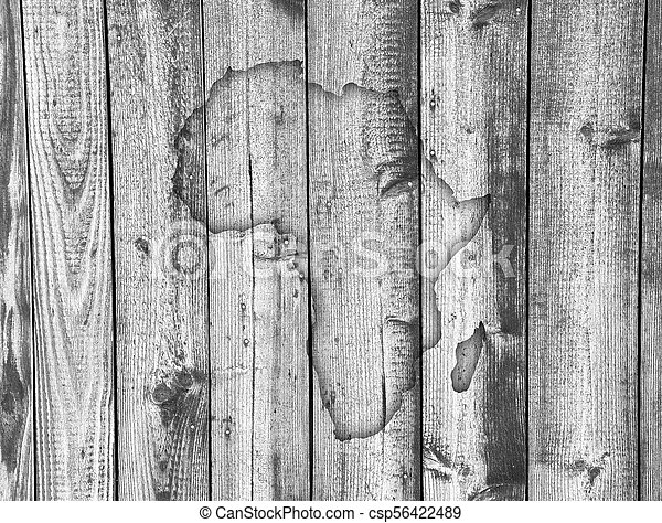 Map of Africa on weathered wood - csp56422489