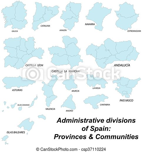Map of all spanish provinces Large and detailed maps of all