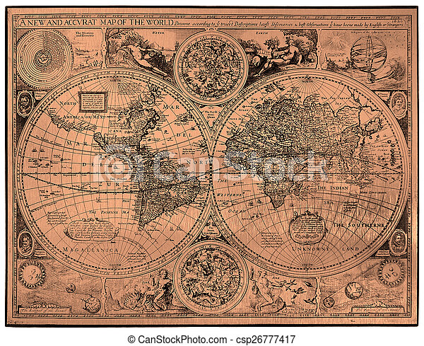 Map of ancient world - csp26777417