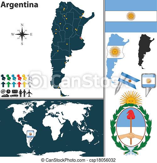 Map of Argentina - csp18056032