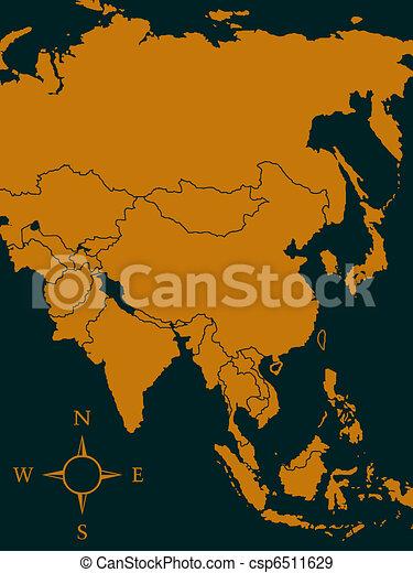 Map of Asia - csp6511629