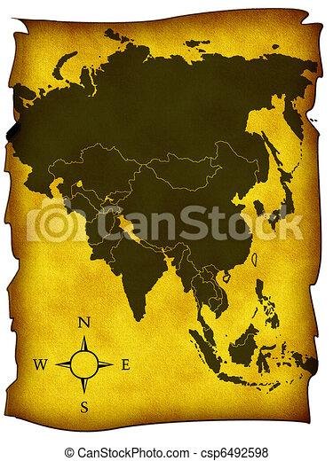 Map of Asia - csp6492598