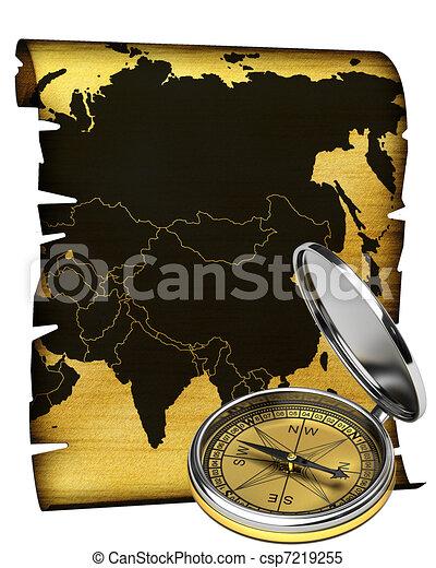 Map of Asia - csp7219255