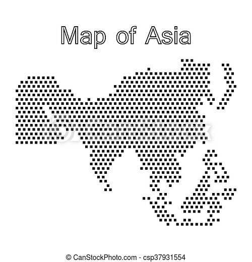 map of Asia,dot