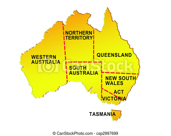 Map Of Australia Showing States.Map Of Australia Showing Eight States And Its Boundaries