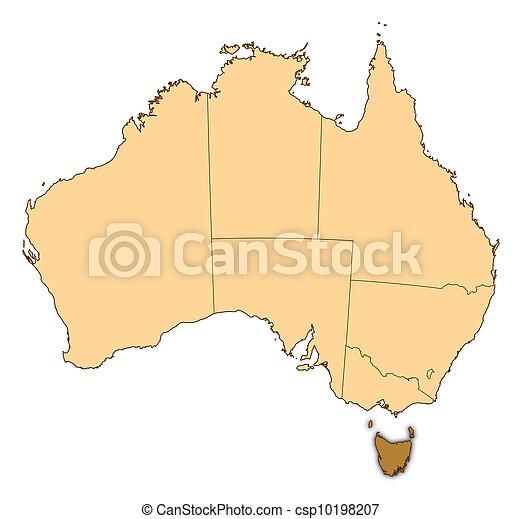 Map Of Australia And Tasmania.Map Of Australia Tasmania Highlighted Map Of Australia Where