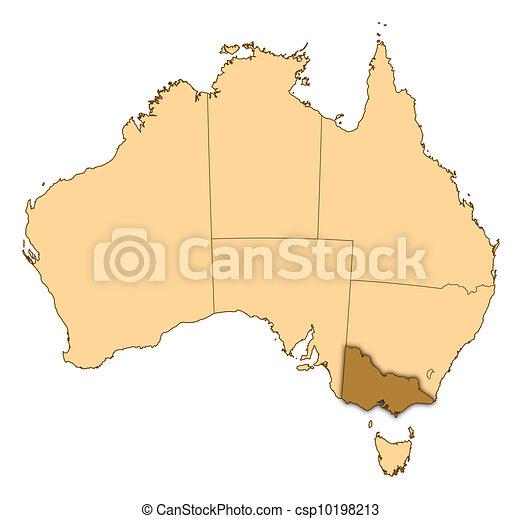 Map Australia Victoria.Map Of Australia Victoria Highlighted
