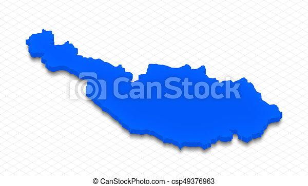 Map of Austria. 3D isometric perspective illustration. - csp49376963