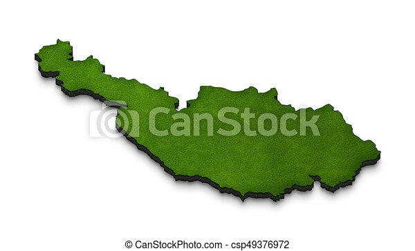 Map of Austria. 3D isometric perspective illustration. - csp49376972