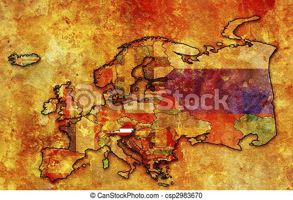 map of austria - csp2983670