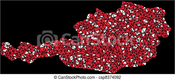 Map of Austria (Europe) - csp8374092