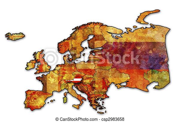 map of austria - csp2983658