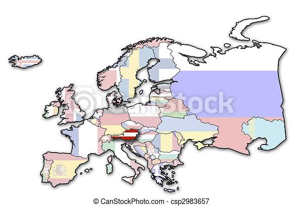 map of austria - csp2983657