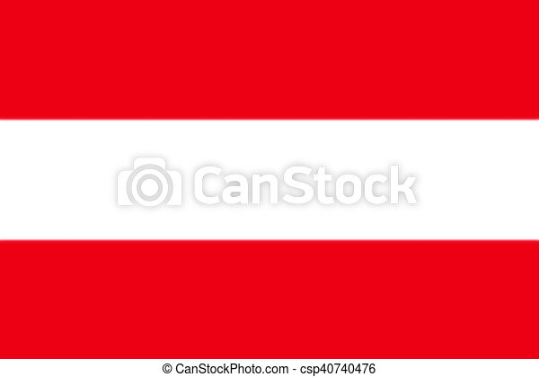 Map of Austria with national flag - csp40740476