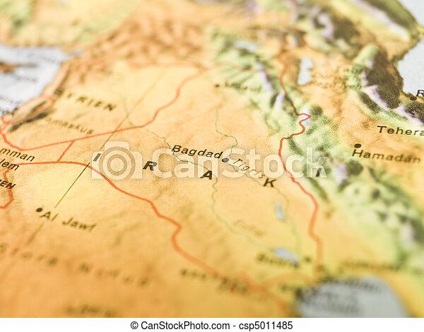 map of bagdad csp5011485