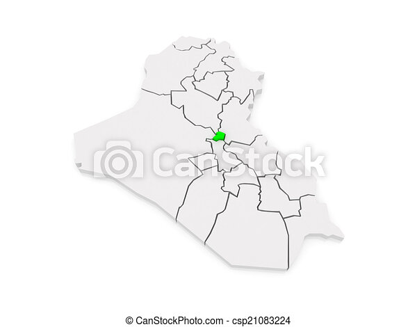 map of baghdad iraq csp21083224