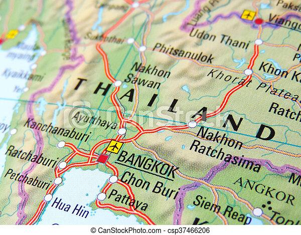 Map of bangkok, thailand.