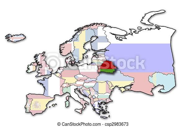 map of belarus - csp2983673