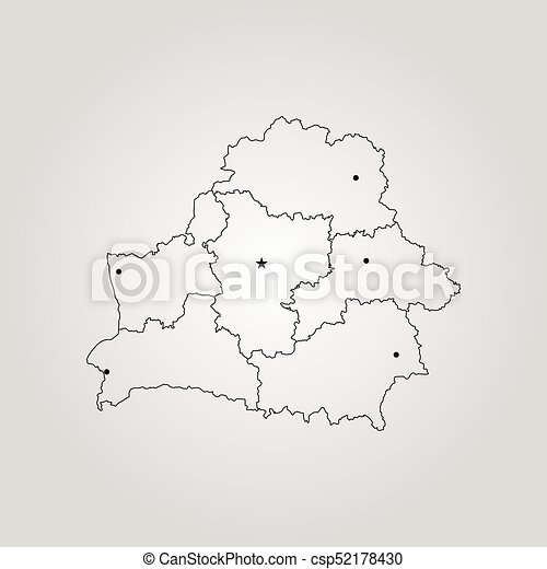Map Of Belarus Vector Illustration World Map