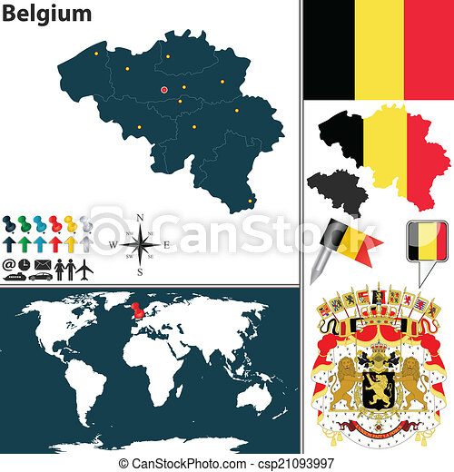 map of belgium csp21093997