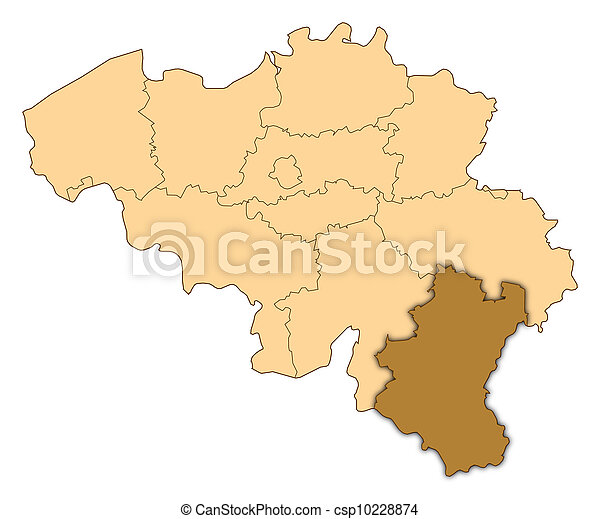 map of belgium luxembourg highlighted csp10228874