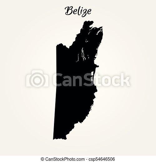 Map Of Belize Vector Illustration World Map