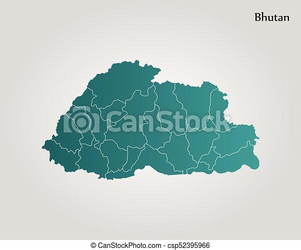 Map Of Bhutan Vector Illustration World Map