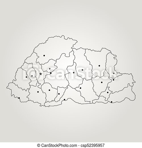 World Map Bhutan.Map Of Bhutan Vector Illustration World Map