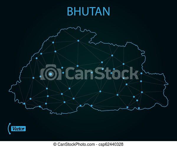 World Map Bhutan.Map Of Bhutan Vector Illustration World Map Map Of Bhutan Vector