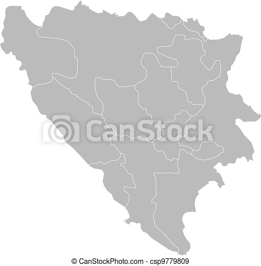 Map of bosnia and herzegovina. Political map of bosnia and ...