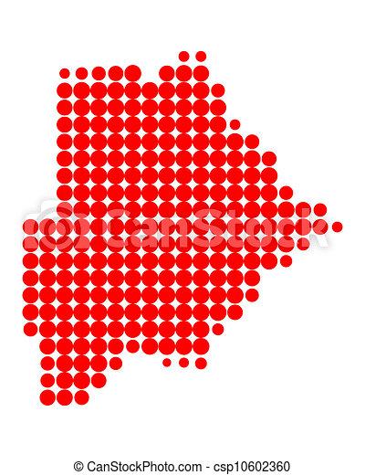 Map of Botswana - csp10602360