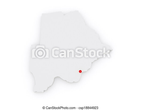 Map of Botswana. - csp18844923